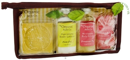 DROPPED: Organic Bath Company - Organic Sampler Honey Chai Pomegranate Fig Set CLEARANCE PRICED