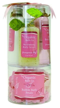 DROPPED: Organic Bath Company - A Little Luxury Gift Set Pomegranate Fig - CLEARANCE PRICED