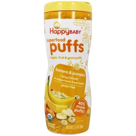HappyFamily - HappyPuffs Organic SuperFoods Banana - 2.1 oz.
