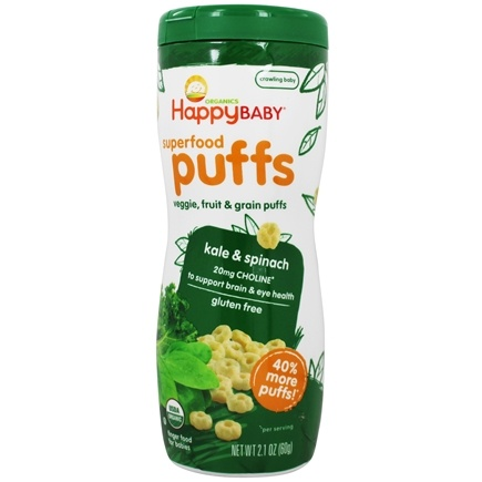 HappyBaby - Happy Puffs Organic SuperFoods Greens - 2.1 oz.
