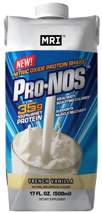 DROPPED: MRI: Medical Research Institute - Pro-Nos Nitric Oxide Protein Shake RTD French Vanilla - 17 oz.