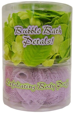DROPPED: Organic Bath Company - Bubble Bath Petals With Exfoliating Body Puff White Tea Set - CLEARANCE PRICED