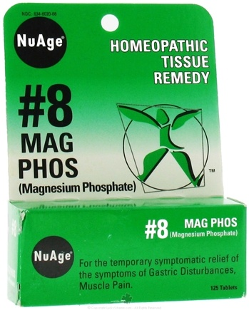 DROPPED: NuAge - #8 Magnesium Phosphate Homeopathic Tissue Remedy - 125 Tablets CLEARANCE PRICED
