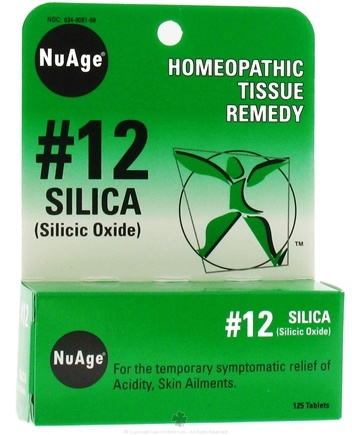 DROPPED: NuAge - #12 Silica Homeopathic Tissue Remedy - 125 Tablets