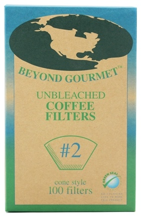 DROPPED: Beyond Gourmet - Unbleached Coffee Filters #2 Cone Style - 100 Filter(s)