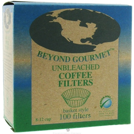 DROPPED: Beyond Gourmet - Unbleached Coffee Filters Basket Style - 100 Filter(s) CLEARANCE PRICED