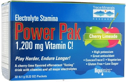 DROPPED: Trace Minerals Research - Electrolyte Stamina Power Pak Cherry Limeade - 32 Packet(s)