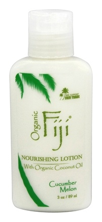 DROPPED: Organic Fiji - Nourishing Lotion Cucumber Melon - 3 oz. CLEARANCE PRICED