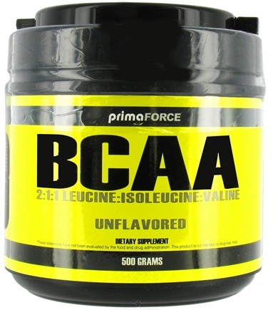 DROPPED: Primaforce - BCAA 2:1:1 Leucine:Isoleucine:Valine Unflavored - 500 Grams