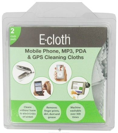DROPPED: E-Cloth - Mobile Phone, MP3, PDA & CPS Cleaning Cloths - 2 Cloth(s) CLEARANCE PRICED