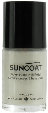 DROPPED: Suncoat - Water-Based Nail Polish Pearl White 01 - 0.5 oz. CLEARANCE PRICED
