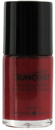 DROPPED: Suncoat - Water-Based Nail Polish Hot Scarlet 06 - 0.5 oz. CLEARANCE PRICED