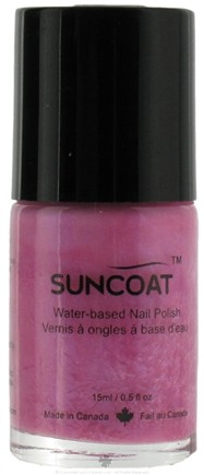 DROPPED: Suncoat - Water-Based Nail Polish Pink Passion 07 - 0.5 oz. CLEARANCE PRICED