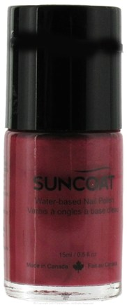 DROPPED: Suncoat - Water-Based Nail Polish Midnight Purple 17 - 0.5 oz. CLEARANCE PRICED