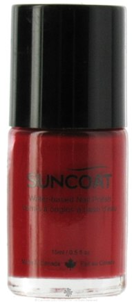 DROPPED: Suncoat - Water-Based Nail Polish Red N' Red 18 - 0.5 oz. CLEARANCE PRICED