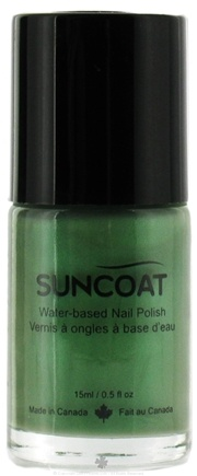 DROPPED: Suncoat - Water-Based Nail Polish Apple Green 21 - 0.5 oz. CLEARANCE PRICED