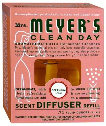 DROPPED: Mrs. Meyer's - Clean Day Scent Diffuser Refill Geranium - 0.71 oz.