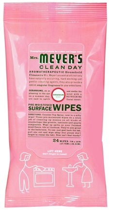 DROPPED: Mrs. Meyer's - Clean Day Surface Wipes Geranium - 24 Wipe(s)
