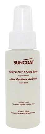 DROPPED: Suncoat - Sugar-Based Natural Hair Styling Spray Fragrance-Free - 2 oz.