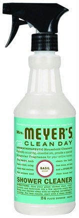 DROPPED: Mrs. Meyer's - Clean Day Shower Cleaner Basil CLEARANCE PRICED - 24 oz.