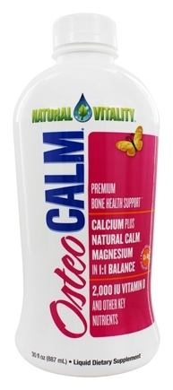 Natural Vitality - Osteo Calm Bone Health Support Natural Orange-Vanilla Flavor - 30 oz.