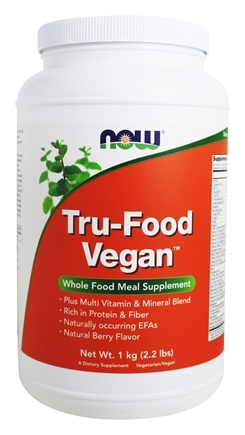 NOW Foods - Tru-Food Vegan Whole Food Meal Supplement Natural Berry - 2.2 lbs.