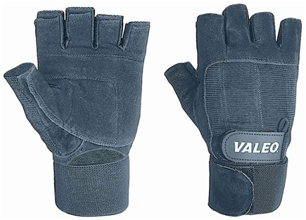 DROPPED: Valeo Inc. - Performance Wrist Wrap Lifting Gloves- Black- Large - 1 Pair