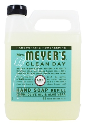 Mrs. Meyer's - Clean Day Liquid Hand Soap Refill Basil - 33 oz.