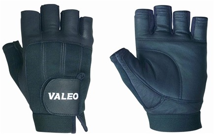 DROPPED: Valeo Inc. - Competition Lifting Gloves- Black- Large - 1 Pair CLEARANCE PRICED