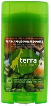 DROPPED: Terra Naturals - Deodorant Stick Aluminum Free Pear-Apple - 2 oz. CLEARANCE PRICED