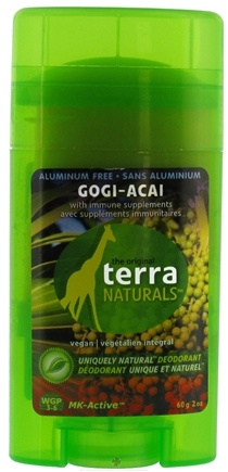 DROPPED: Terra Naturals - Deodorant Stick Aluminum Free Gogi-Acai - 2 oz. CLEARANCE PRICED