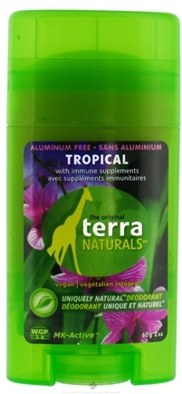 DROPPED: Terra Naturals - Deodorant Stick Aluminum Free Tropical - 2 oz. CLEARANCE PRICED