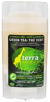DROPPED: Terra Naturals - Deodorant Stick Aluminum Free Green Tea - 2.5 oz. CLEARANCE PRICED