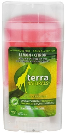 DROPPED: Terra Naturals - Deodorant Stick Aluminum Free Lemon Citron - 2.5 oz. Formaly Citrus Mix