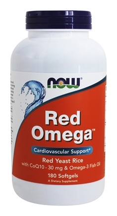 NOW Foods - Red Omega Red Yeast Rice With CoQ10 30 mg. - 180 Softgels