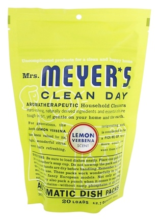 Mrs. Meyer's - Clean Day Automatic Dish Packs 20 Loads Lemon Verbena - 12.7 oz.