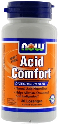 DROPPED: NOW Foods - Acid Comfort Digestive Health - 30 Lozenges CLEARANCE PRICED