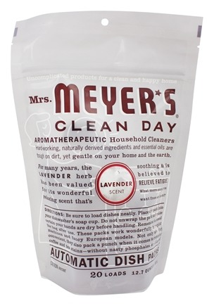 Mrs. Meyer's - Clean Day Automatic Dish Packs 20 Loads Lavender - 12.7 oz.