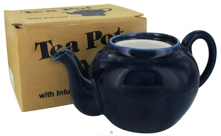DROPPED: Harold Import - Teapot Porcelain with Infuser Cobalt - 32 oz. CLEARANCE PRICED