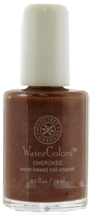 DROPPED: Honeybee Gardens - Watercolors Water Based Nail Enamel Cherokee - 0.5 oz. CLEARANCE PRICED
