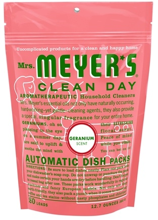 DROPPED: Mrs. Meyer's - Clean Day Automatic Dish Packs 20 Loads Geranium - 12.7 oz.