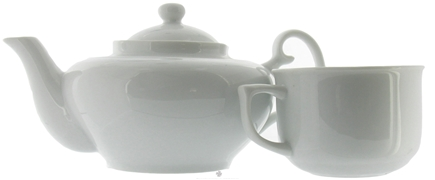 DROPPED: Harold Import - Teapot For One Porcelain White Set - 16 oz. CLEARANCE PRICED