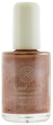 DROPPED: Honeybee Gardens - Watercolors Water Based Nail Enamel Mocha Latte - 0.5 oz. CLEARANCE PRICED