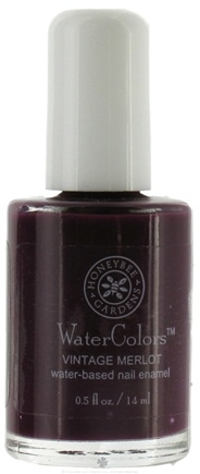 DROPPED: Honeybee Gardens - WaterColors Water Based Nail Enamel Vintage Merlot - 0.5 oz. CLEARANCE PRICED