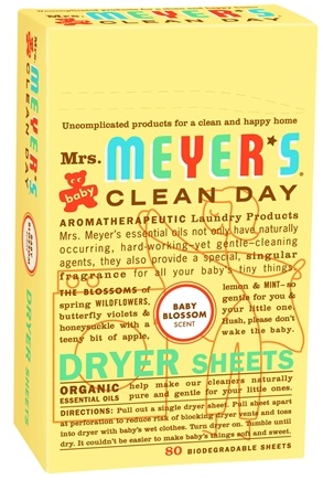DROPPED: Mrs. Meyer's - Clean Day Dryer Sheets Baby Blossom - 80 Sheet(s)