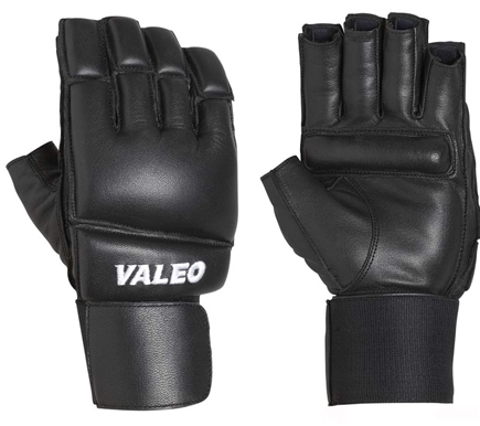 DROPPED: Valeo Inc. - Leather Bag Gloves with Wrist Wraps- Black- Extra Large - 1 Pair CLEARANCE PRICED