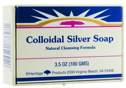 DROPPED: Heritage - Colloidal Silver Bar Soap Natural Cleansing Formula - 3.5 oz.