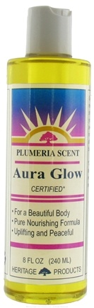 DROPPED: Heritage - Aura Glow Plumeria Scent - 8 oz. CLEARANCE PRICED