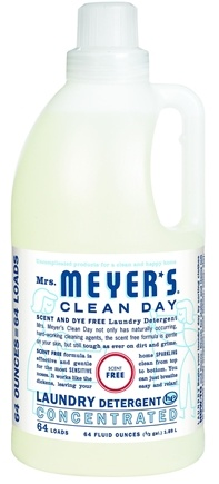 DROPPED: Mrs. Meyer's - Clean Day Laundry Detergent Concentrated Scent Free 64 Loads - 64 oz. CLEARANCE PRICED