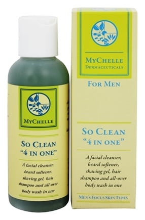 "DROPPED: MyChelle Dermaceuticals - So Clean ""4 In One"" For Men - 4.4 oz."